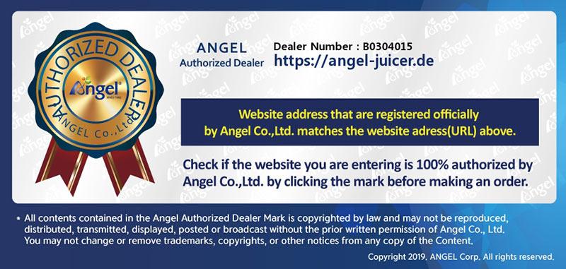 Angel Juicer Händler Zertifikat
